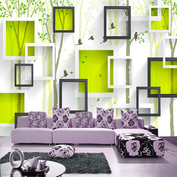 Large 3D mural wallpaper modern TV background wall abstract tree flower bird bedroom sofa background wall covering non-woven modern simple 3d cross stripe non woven wallpaper living room tv sofa bedroom background wall covering home decor wall paper 3 d