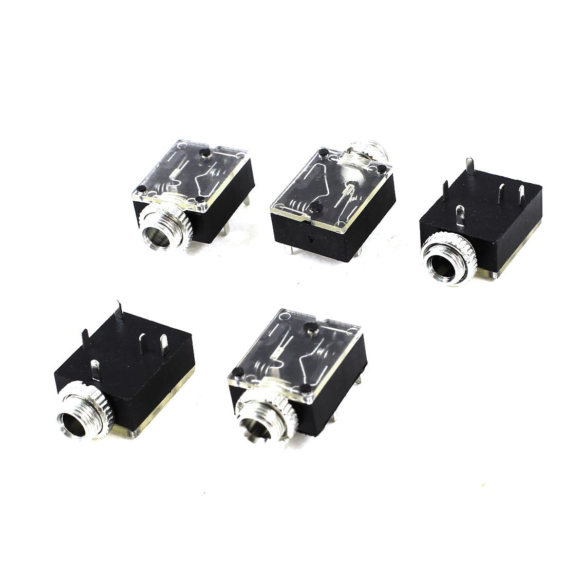 WSFS Hot 5 Pcs 5 Pin 3.5mm Female Audio Stereo Jack Socket PCB Panel Mount wsfs hot 10 pcs black plastic housing 3 5mm audio jack plug headphone connector