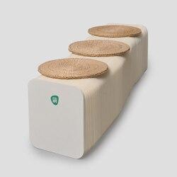 مقعد دائري صغير موضة المحمولة كرسي بلا ظهر قابل للطي كرسي المنزل رياض الأطفال الأثاث الأخضر
