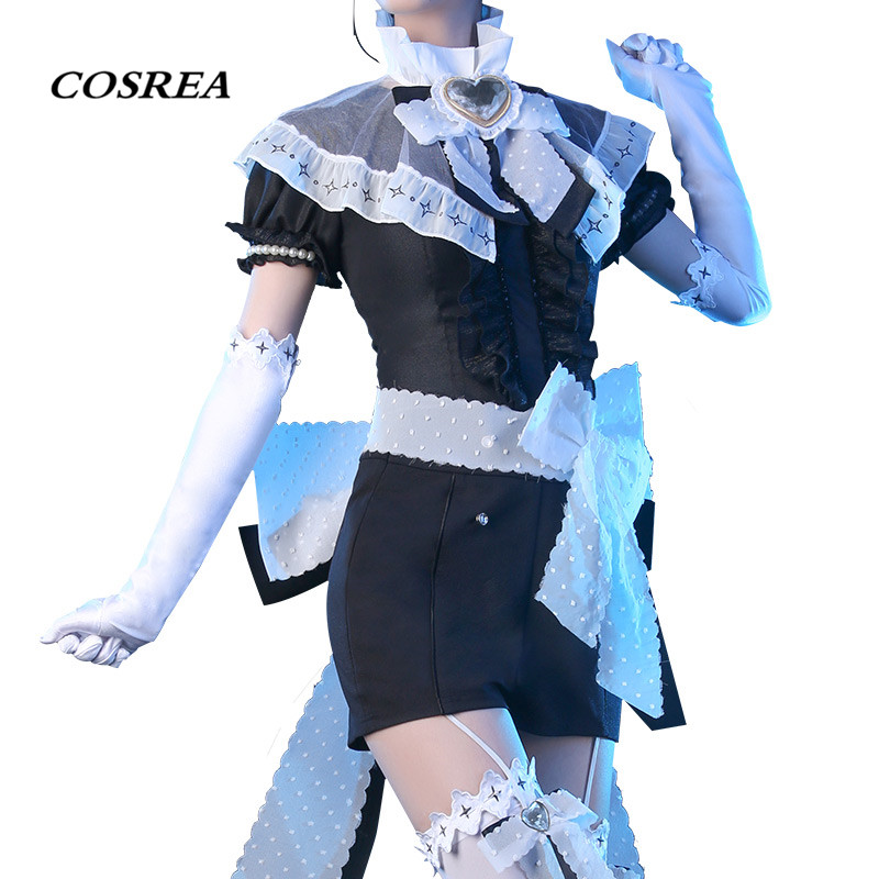 COSREA Anime Land of the Lustrous Cosplay Costume Diamond Houseki no kuni Full Set Costumes With Bow Halloween Party For Woman