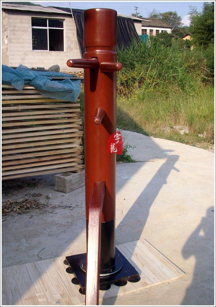 Nouveau type de colonne rotative aile Chun en bois factice entrée de gamme, mook jong martial art kung fu bois factice expédition Express