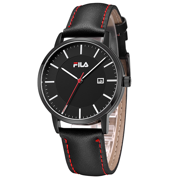 fila watch. aliexpress.com : buy fila high quality luxury top brand fashion casual auto date leather strap men watch women quartz wristwatch 38 793/794 from o