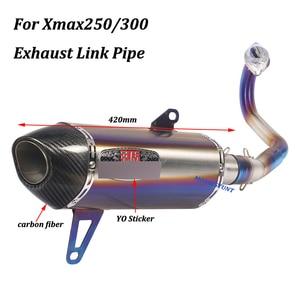 Image 4 - Dành Cho Xe Yamaha Xmax250 Xmax300 Đầy Đủ Hệ Thống Thoát Khí Xe Máy Thoát Sửa Đổi Với Thép Không Gỉ Trước Giữa Liên Kết Ống Trơn Trượt Trên