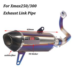 Image 4 - For Yamaha Xmax250 Xmax300 Full exhaust System Motorcycle Escape Modified With stainless steel Front Mid Link Pipe Slip on