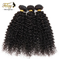 Febay hair products 7A cheap selling Brazilian kinky curly hair 4pcs/lot afro kinky curly virgin hair natural black hair weaves