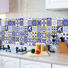 Anti-oil Wall Stickers High temperature paste kitchen Self-adhesive foil waterproof bathroom wall stickers B6003