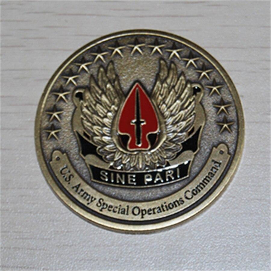 Freies Verschiffen 20 teile/los, NEUE US Army Special Operationen Befehl Sinus Pari Herausforderung Münze-in Nichtwährungs-Münzen aus Heim und Garten bei AliExpress - 11.11_Doppel-11Tag der Singles 1