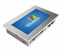 """팬리스 10.1 """"2 LAN 미니 pc 터치 스크린 산업용 패널 pc, 64G SSD 태블릿 pc, POS 시스템 용"""