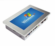 """بدون مروحة 10.1 """"2 LAN كمبيوتر صغير شاشة تعمل باللمس لوحة الصناعية الكمبيوتر مع 64G SSD الكمبيوتر اللوحي لنظام POS"""