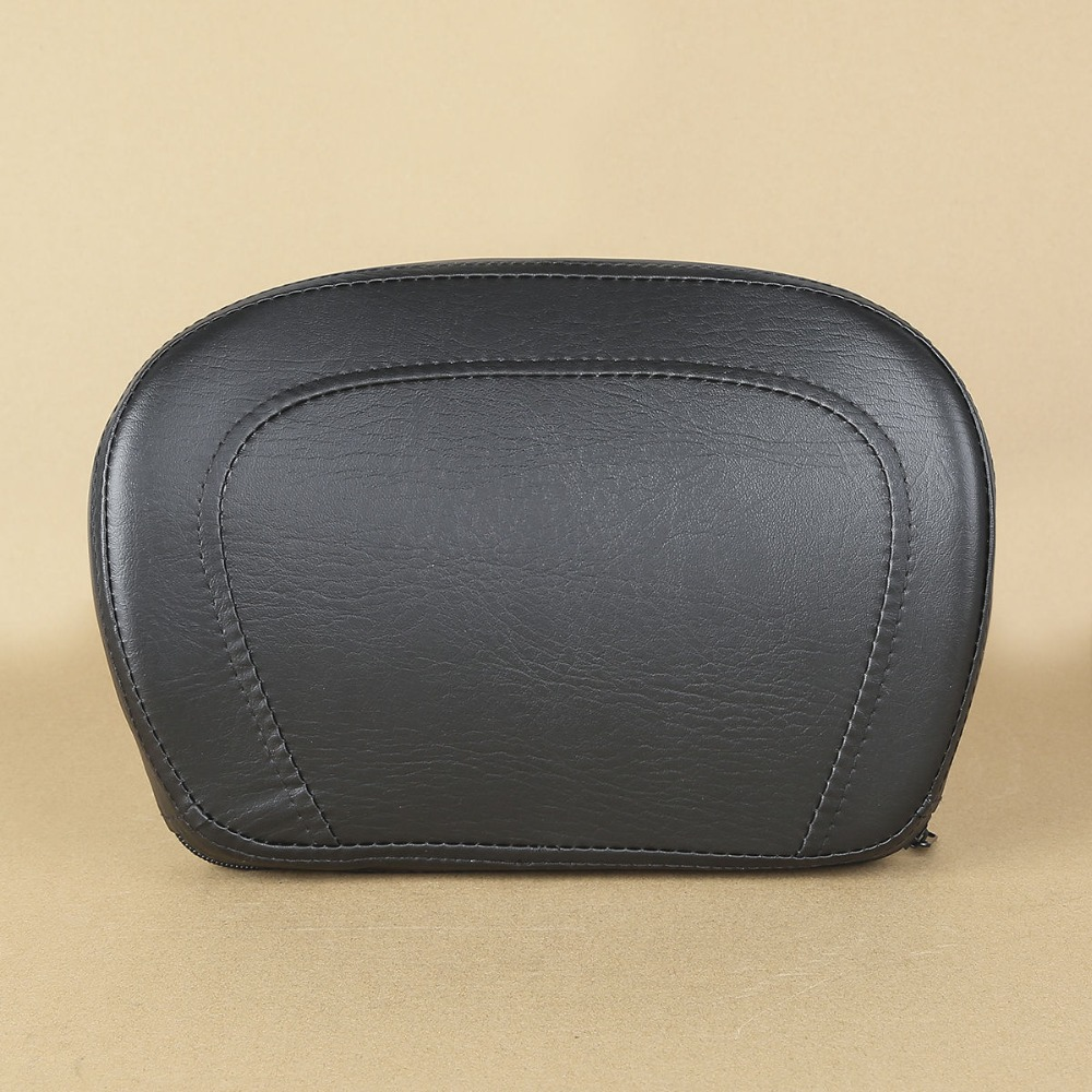 for Harley Touring Detachable Passenger Backrest Pad Sissy Bar PU Leather
