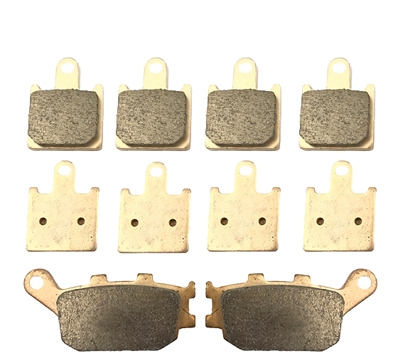 Motorcycle Parts Front & Rear Brake Pads Kit For KAWASAKI Z1000 ABS ZR1000 Z ZR 1000 C7F/C8F/C9F 2007-2009 Copper Based Sintered