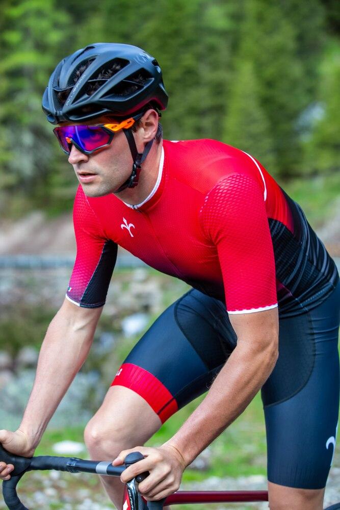 Wilier maillot de cyclisme noir rouge dégradé haute qualité professionnel été séchage rapide respirant transpiration vêtements de cyclisme