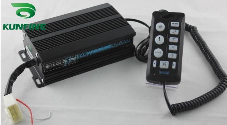 Universal 12V Black Electrical Siren High Power 200W Car Siren 9 Tones Controller Warning Siren without Speaker KF 6203