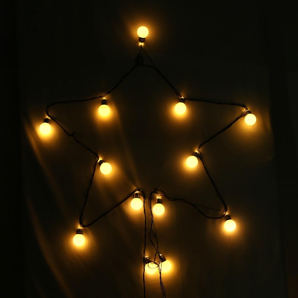 20pcs Large Bulbs String Lights Lamp Warm White Light Home Outdoor Holiday Decorative Wedding Party xmas String Lights(EU) 20pcs mini pavilion lampshade string light
