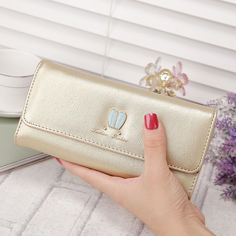 2017 Hot Sell Brand New Fashion Women Lady Patent Leather Long Solid Wallet Bifold Purse Clutch Card Money Holders Cute Rabbit aidocrystal heart shape factory direct sell fashion woman diamond clutch for lady