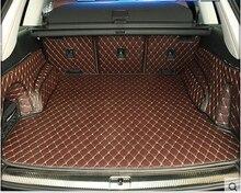 Bueno y Nuevo! esteras tronco especial para Todos Los Nuevos Audi Q7 5 asientos 2016 fácil de limpiar alfombras impermeable para Audi Q7 2016, envío libre