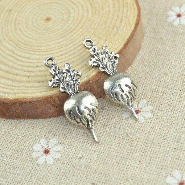 Wholesale 50pcs/lots alloy antique metal charm tibetan silver style radish pendant fit jewelry making Z42561