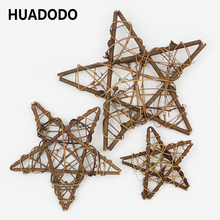 10cm /20cm Dried Rattan Star frame Artificial flowers Wreaths Christmas decoration For Home DIY Handmade Door Hanging Decor