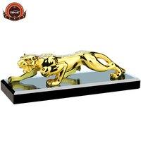 Creative Gold Leopard Car perfume bottle seat home car decoration top grade Car air purifier size 200*70*60mm 2 color chose
