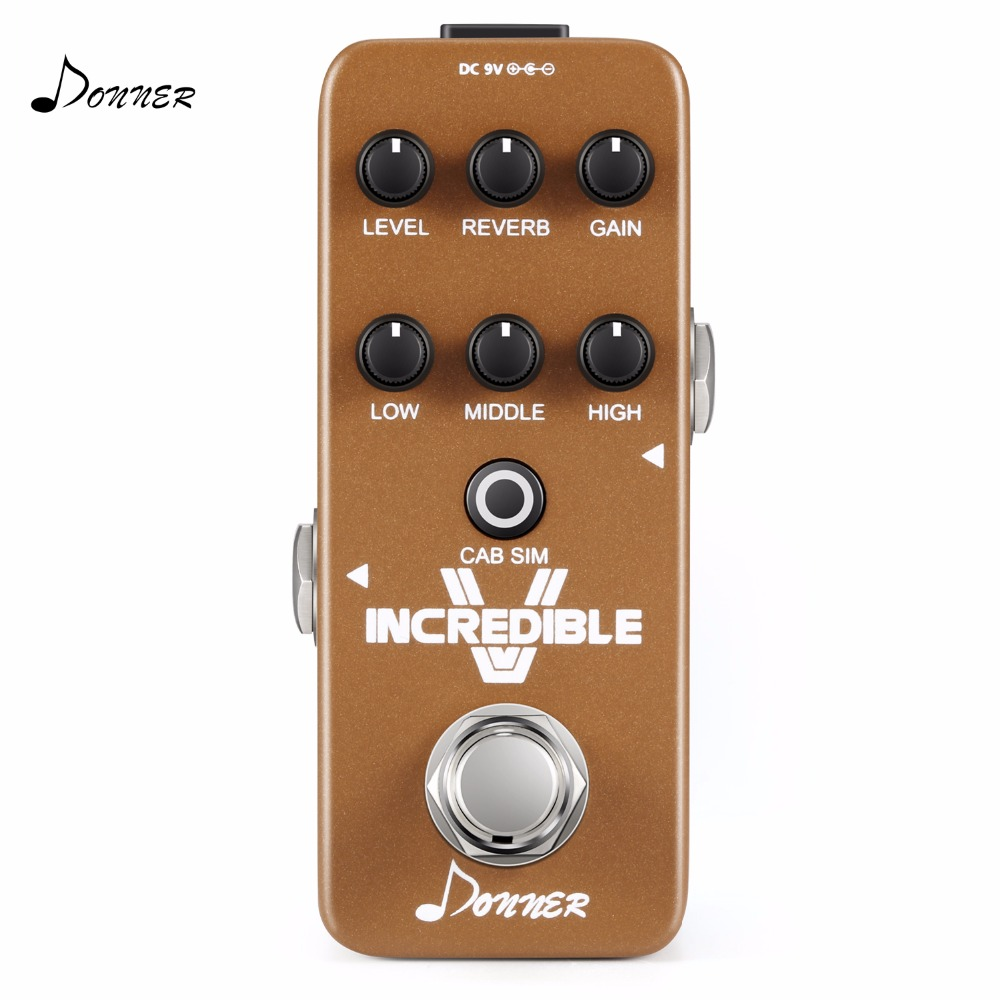 Donner Guitar Effect Pedal Incredible V Mini Preamp donner guitar effect pedal incredible v mini preamp