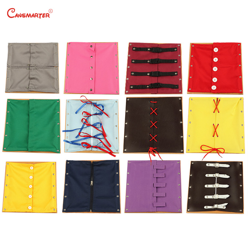Montessori Life Skills Dressing Frame Zipper Button Practice Game Educational Preschool Toy Children for 3-6 Years PR003-3