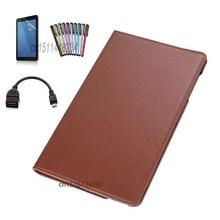 """4en1! para Huawei Mediapad T1 10 """"360 Rotación PU funda de cuero Para Huawei Honor 9.6 T1-A21W T1 10 T1-A21L T1-A23L cubierta del soporte"""