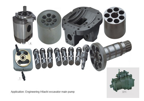 Repair kit for HITACHI HPV145 piston pump cylinder block valve plate head cover spare parts