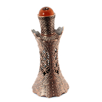 2 pcslot 15 ML/CC Hollow Out Bakır Renk Orta Doğu Uçucu Yağlar Için Şişe Parfüm Boş Cam Şişe Düğün Dekor için