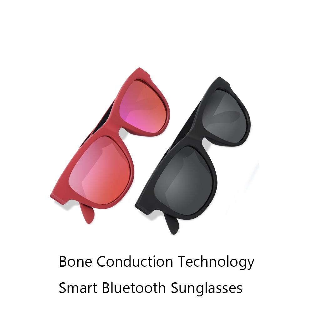 2018 Newest G1 Sunglasses Bluetooth Bone Conduction Headset Smart Glasses Health Sports Wireless Headphones With Microphone