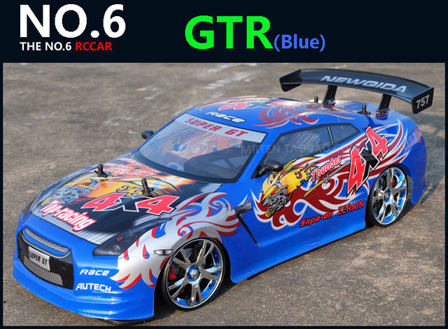 Large RC Car 1:10 High Speed Racing Car For Nissan GTR Championship 2.4G 4WD Radio Control Sport Drift Racing  electronic toy 4