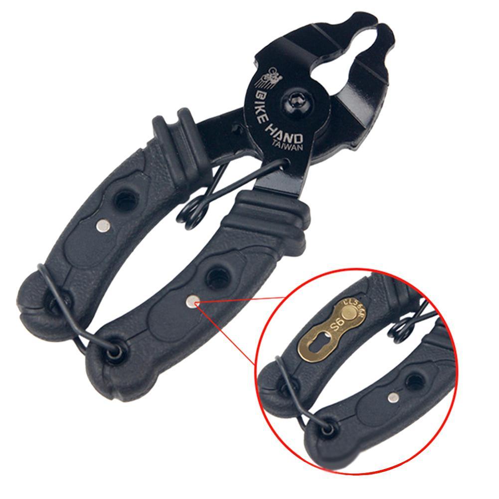 Монтажная цепь для велосипеда, велосипедная цепь с открытым замком, Волшебная велосипедная пряжка, инструмент для ремонта, аксессуары, плоскогубцы