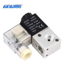 цена на Air 3V1-08 1/4BSP 3V1-06 1/8DC12V/24V AC24V/36V/110V/220V/380V 3Way 2Position Pneumatic Electric Solenoid Valve Control 3V1-M5