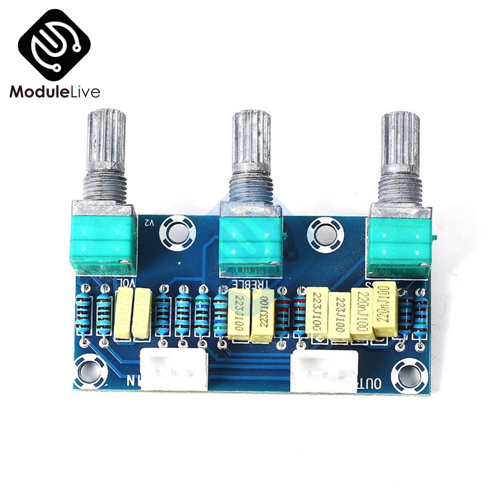Image 3 - New XH M802 Passive Tone Board Amplifier Preamp Power Module Low High Sound Adjustment Electonic Diy Electronic PCB Board-in Instrument Parts & Accessories from Tools