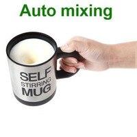 350ml Lazy Man Stainless Steel Office Self Stirring Mug Mixing Tea Coffee FREE SHIPPNG