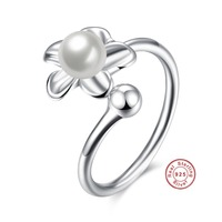 2017 Sales Jewelery Fashion Retro AAA Zircon Imitation Pearl Jewelery Ring 100 Sterling Silver 925 Suitable