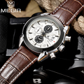 Top Brand Megir Men Chronograph Luxury Leather Military Quartz Watch Male Waterproof Sports Wrist watches Relogios Masculino