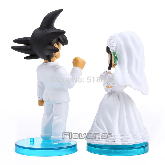 Dragon Ball Son Goku and ChiChi Wedding Dolls PVC Toys ...