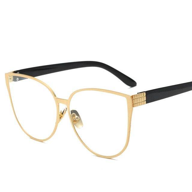 14d028a2e6b HOUSTMUST Womens vintage oversized cat eye Sunglasses women brand designer  fashion retro reading glasses for women shades UV400