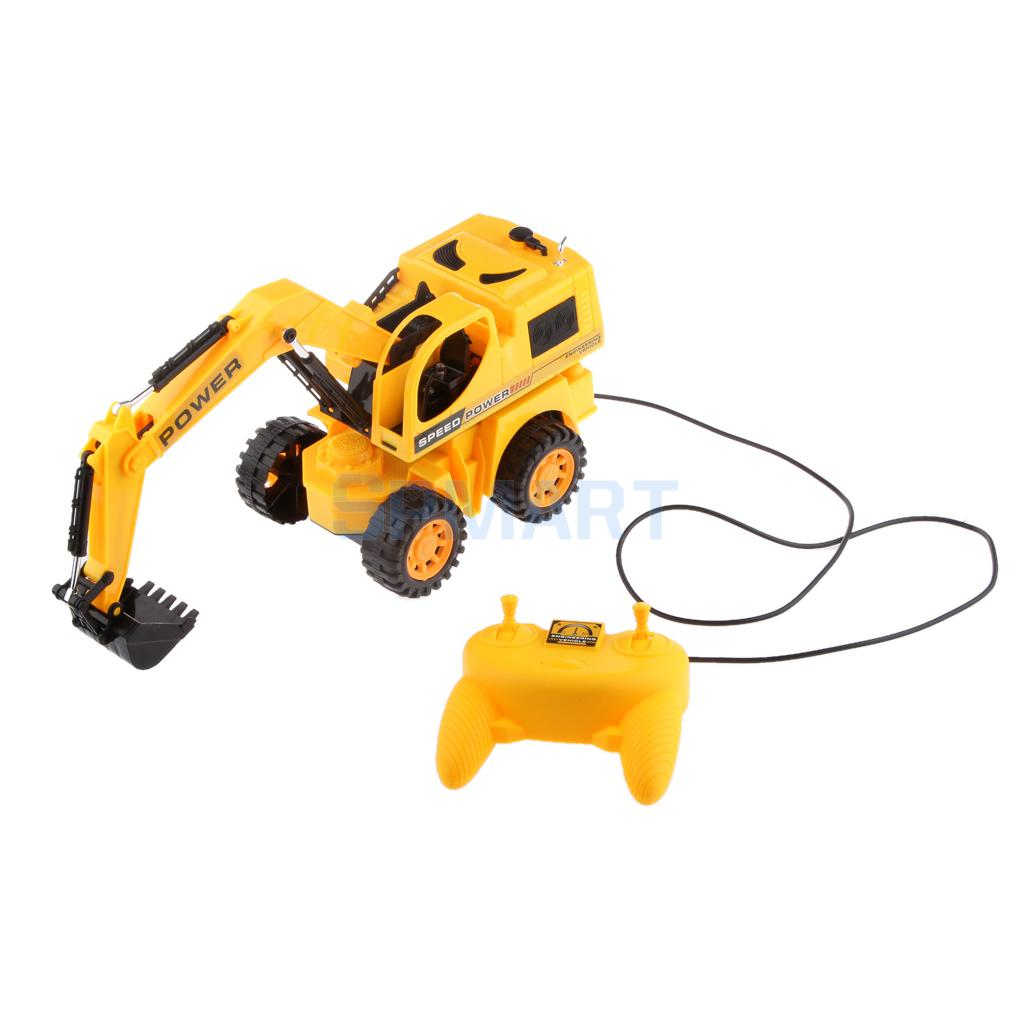 Digger Toy Us 20 54 5 Channel Remote Control Excavator Electric Digger Car Kids Lighting Construction Tractor Toy In Rc Cars From Toys Hobbies On