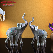 2016 Hot Sale New Home Decoration Accessories Furnishing Elephant Resin Crafts Gifts Housewarming Opening Objects Retro Lovers