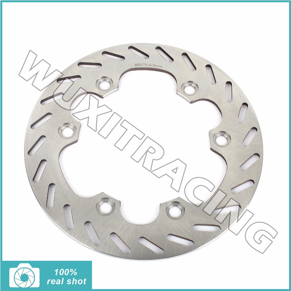 Silver 220mm Stainless steel Motorcycle New Rear Brake Disc Rotor fit for HONDA CR 125 250 500 R CR125R CR250R CR500R 1987 1988 motorcycle front and rear brake pads for honda cr125r cr250r cr500r cr 125 250 500 r 1987 2001