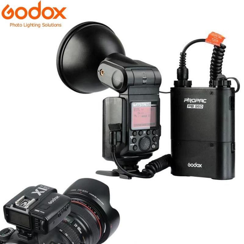 Godox Witstro AD360II-C TTL 강력한 스피드 라이트 플래시 + PB960 리튬 배터리 블랙 + X1C TTL 송신기 (캐논 EOS 카메라 용)