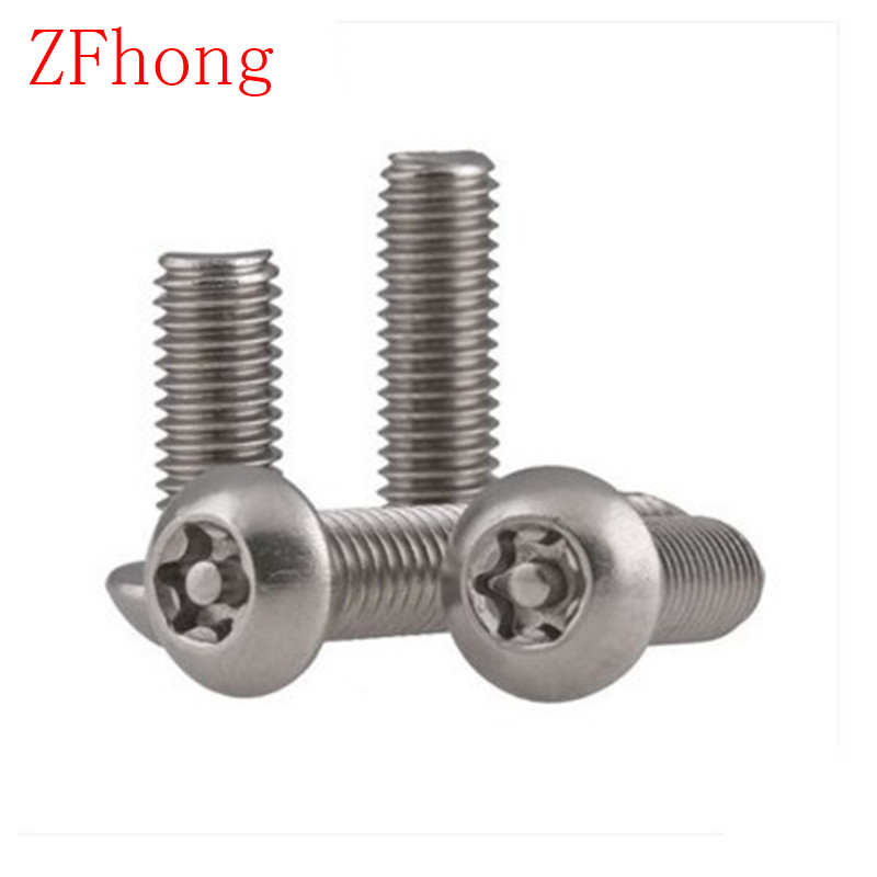 100pcs/lot ISO7380 M3 Security Screw M3*5/6/8/10/12/14/16/18/20/22/25/30/35/40 Torx Button Head Tamper Proof Screws 7380 fan7380 sop 8
