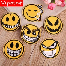 VIPOINT embroidery face patches smile badges applique for clothing YX-212