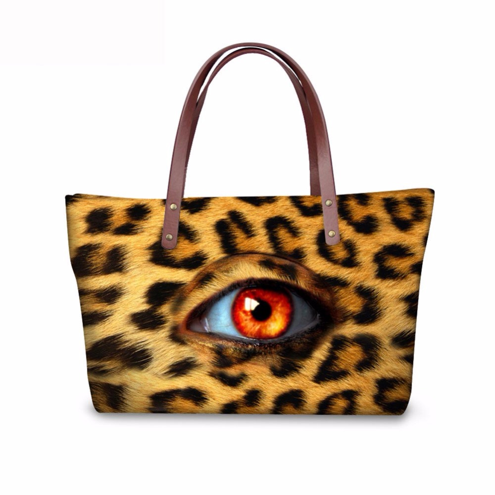 Noisydesigns animals eyes Pattern Shoulder Bag Big gorjuss bag Women Hand Bag Beach Totes Travel Tote Sac a main Wholesale