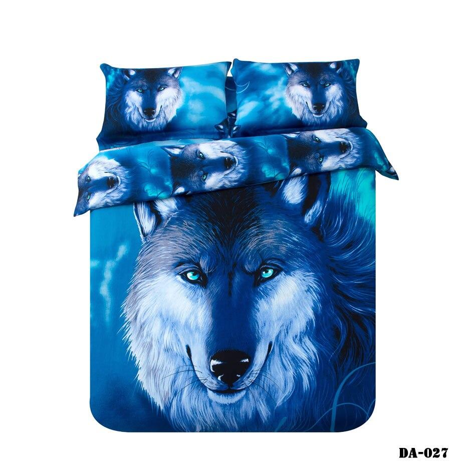 37 piece 100 organic cotton 3d wolf print bed sheets california - Cal King Sheets