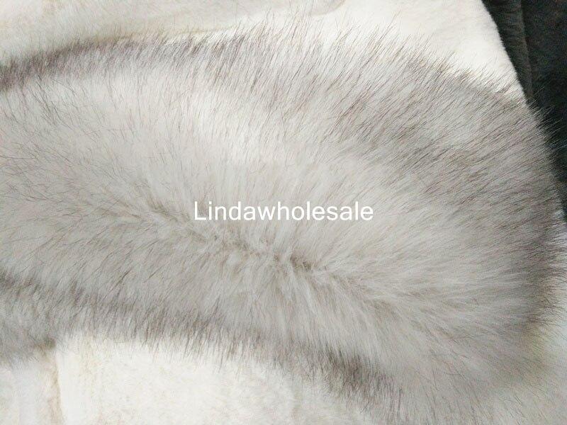 Di alta qualità Bianco tinto di punta imitazione della pelliccia di fox addensare faux fur tessuto DIY tessuto della peluche, 180 cm * 45 cm (mezzo metro)/pcs-in Tessuto da Casa e giardino su AliExpress - 11.11_Doppio 11Giorno dei single 1