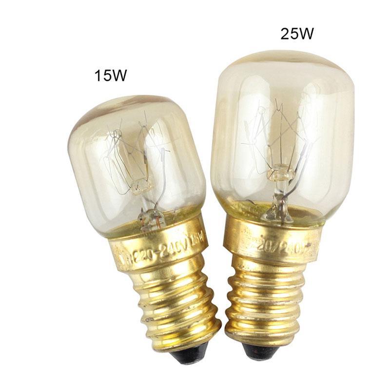 220v high temperature bulb 15w 25w e14 300 degree microwave oven light bulbs tungsten filament steamer lamp bulbs salt bulb
