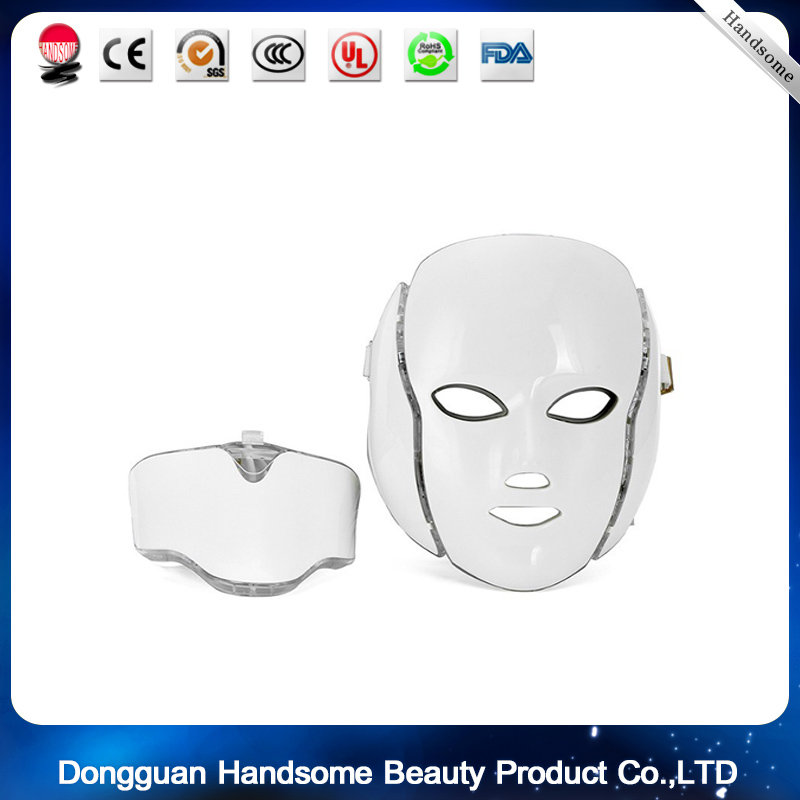 7 Color Professional Photon LED Facial Mask Skin Rejuvenation Anti-Aging Beauty Therapy Light for Home Use Beauty Instrument 7color led mask photon light skin rejuvenation therapy facial mask ice roller stainless steel blackhead needle bend curved
