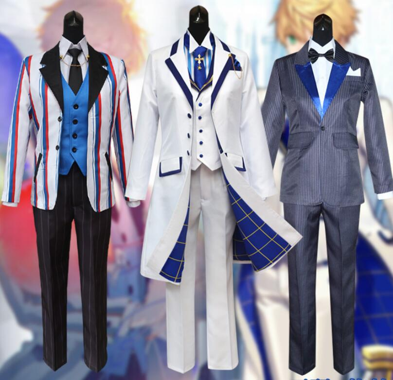 Fate Grand Order FGO Saber King Arthur Cosplay Costume Full Set School Uniform Halloween Carnival Party Dress Custom Made